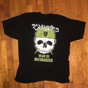 The Casualties Punk T Shirt XL